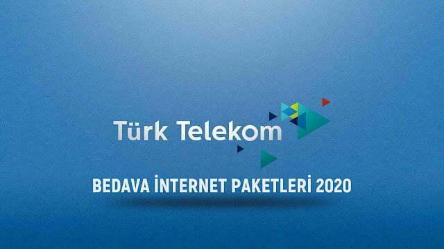 turk telekom bedava internet paketleri 2020