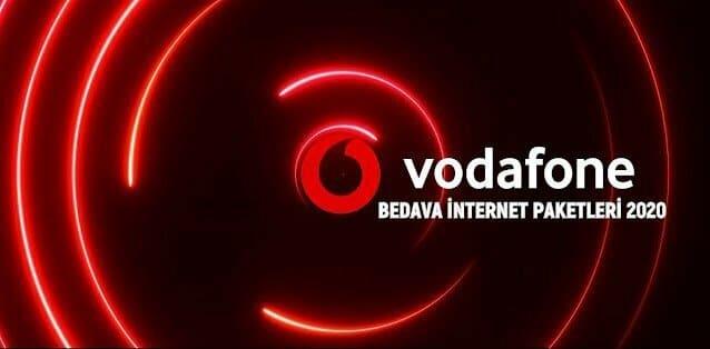 vodafone bedava internet paketleri 2020